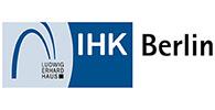 Logo der Industrie- und Handelskammer Berlin. Die IHK ist Kunde der Filmproduktion Karlsruhe mp-film.