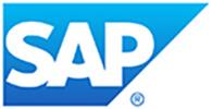 Weiße Schrift auf blauem Grund so sieht das Logo des IT-Unternehmens SAP aus.