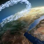 3d-Animation. Das Bild zeigt den Luftkreislauf der vom Äquatorbereich ausgeht. Erklärfilm der Filmproduktion Karlsruhe für das Staatliche Museum für Naturkunde Karlsruhe