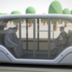 Passagiere im EVA Shuttle Bus