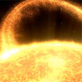 Ein Sonnenwind fegt über Oberfläche des größten Planeten. Die Filmproduktion Karlsruhe hat die 3D-Animation für das Staatliche Museum für Naturkunde realisiert.
